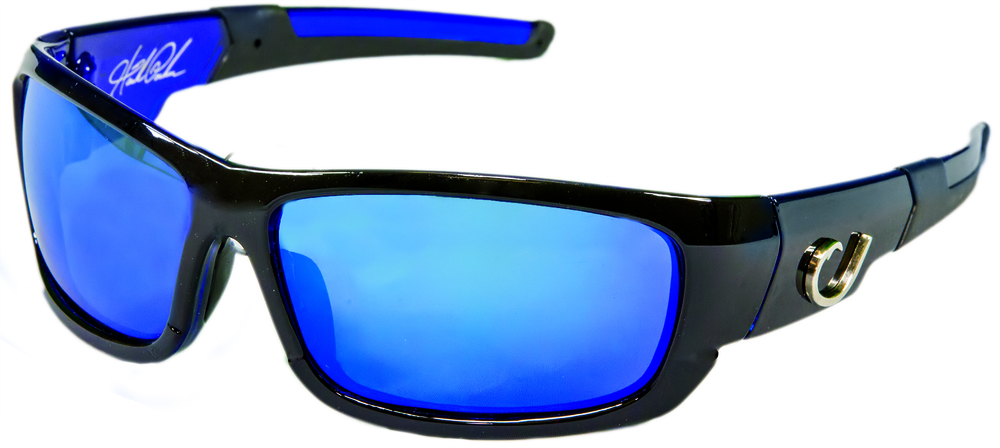 2104f9b34e3 Mustad s Hank Parker Sunglasses provide 99% polarisation and 100% UVA and  UVB protection.